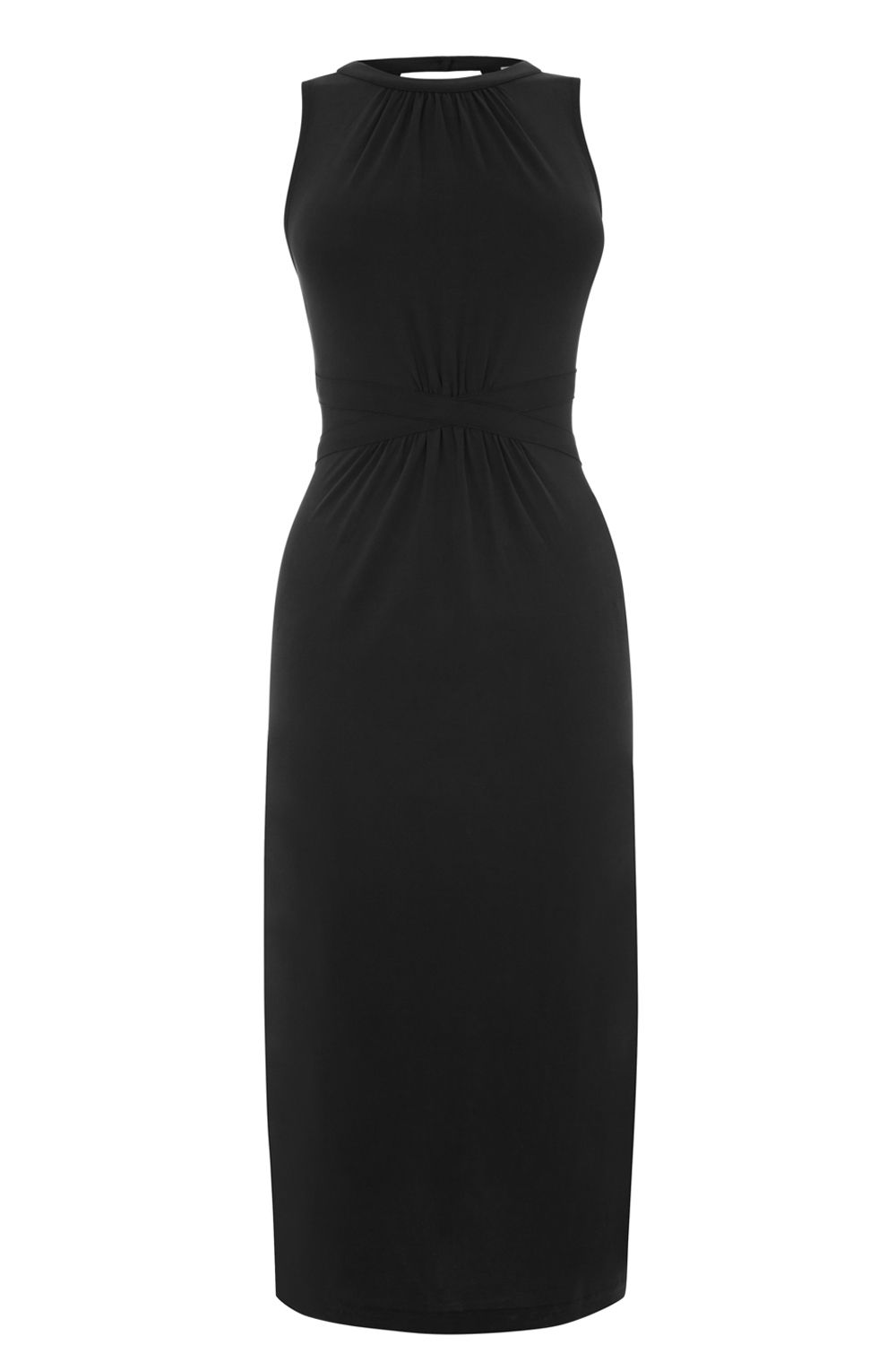 Oasis Grecian Midi Dress, Black