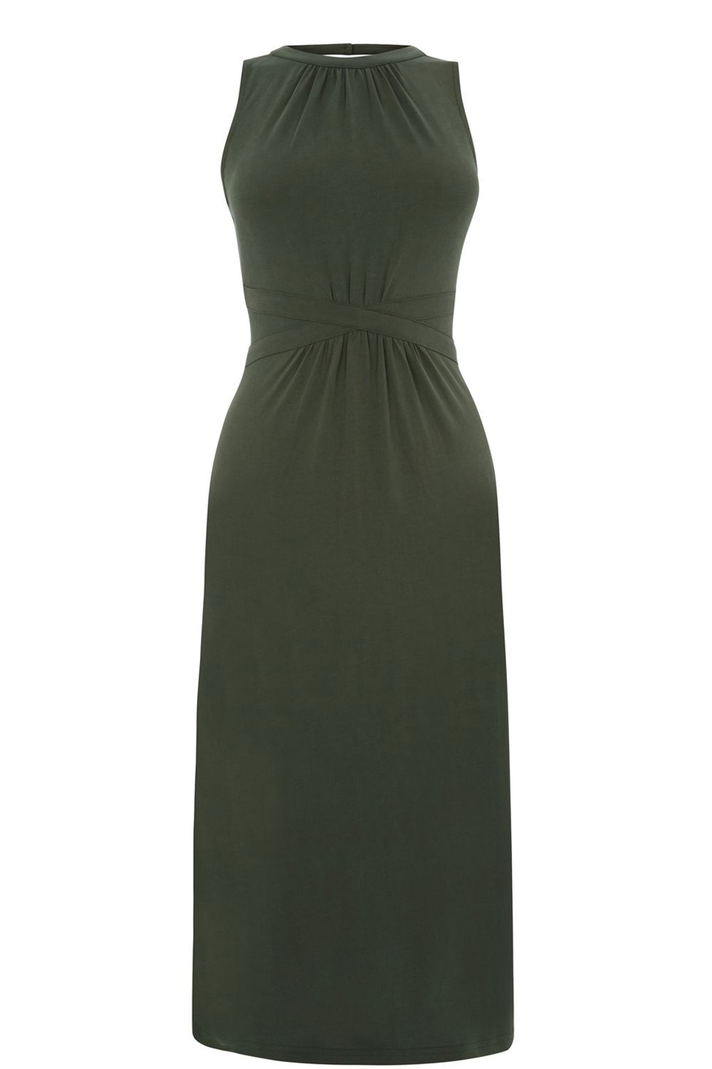 Oasis Grecian Midi Dress, Khaki