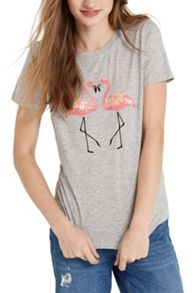 Oasis Kissing Flamingo Tee
