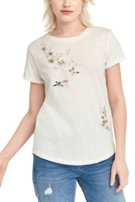 Oasis Spring Embroidered Tee