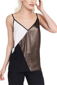 Oasis Colour Block Metallic Cami