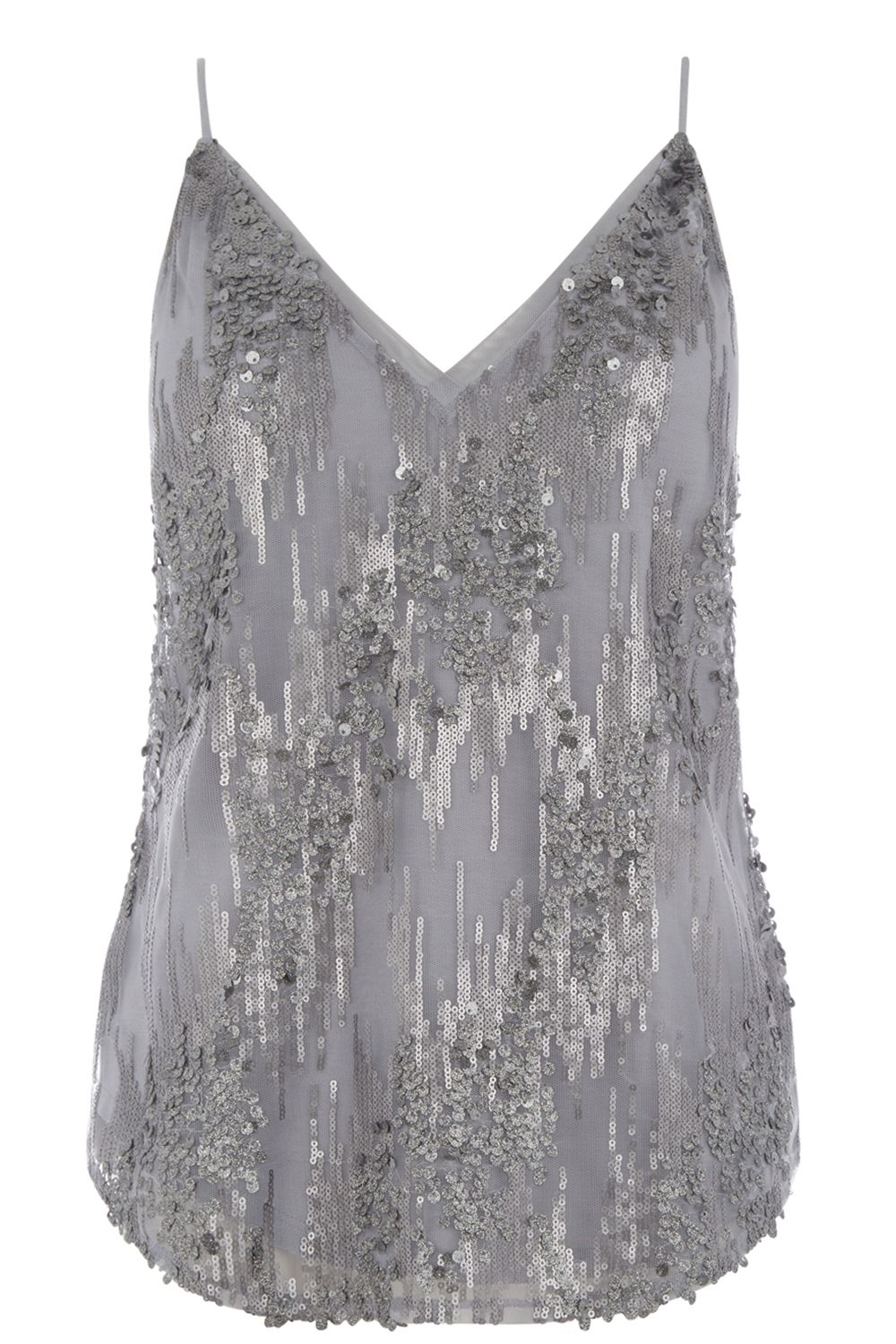Oasis PRETTY SEQUIN CAMI, Grey