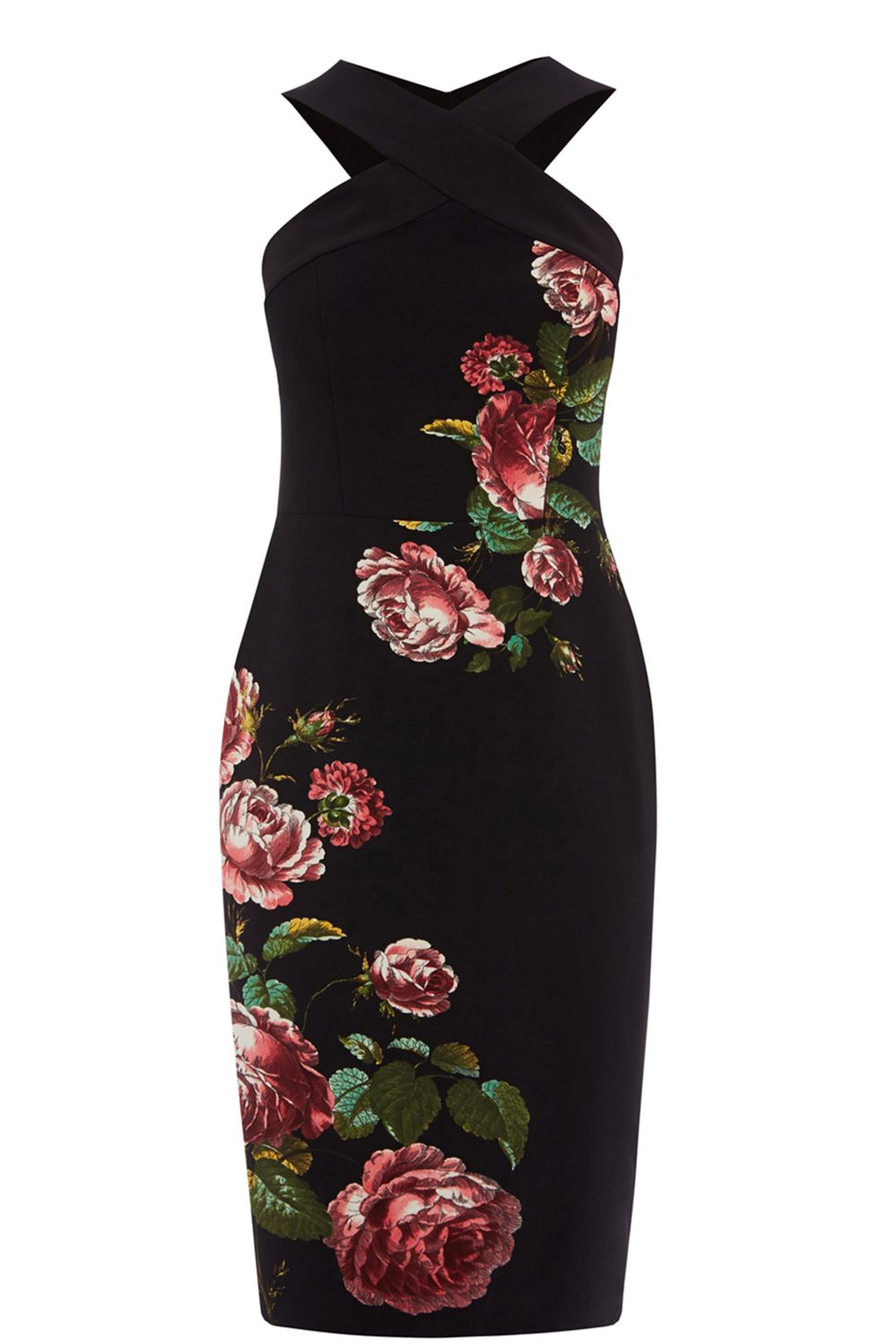 Oasis Royal Worcester Pencil Dress, Multi-Coloured