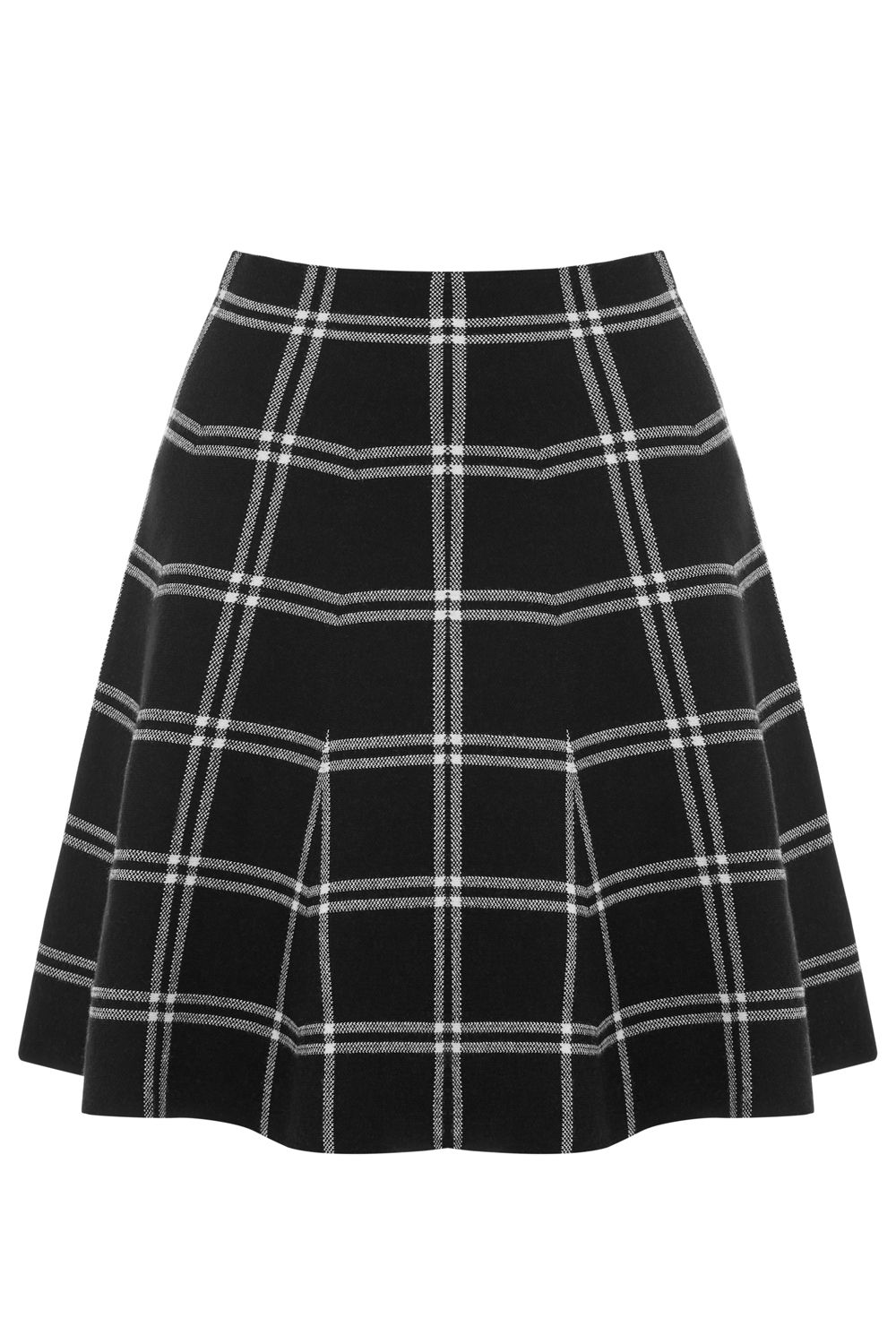 Oasis Checked Skirt, Multi-Coloured