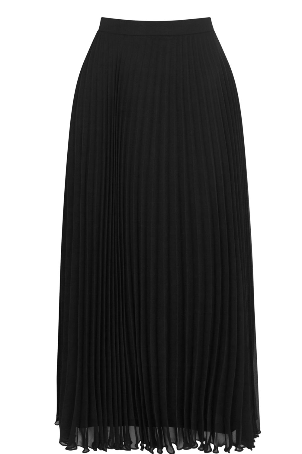 Oasis Pleated Skirt, Black