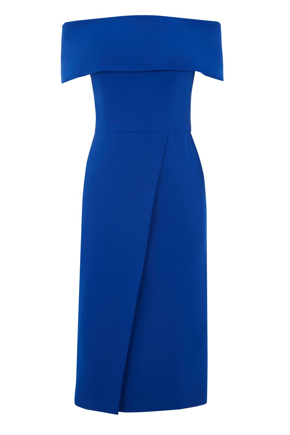 Oasis Bardot Pencil Dress, Cobalt