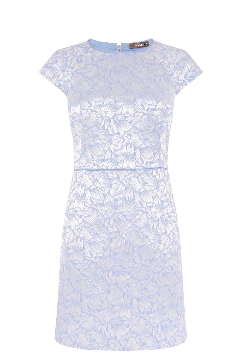 Oasis JACQUARD SHIFT DRESS, Multi-Coloured