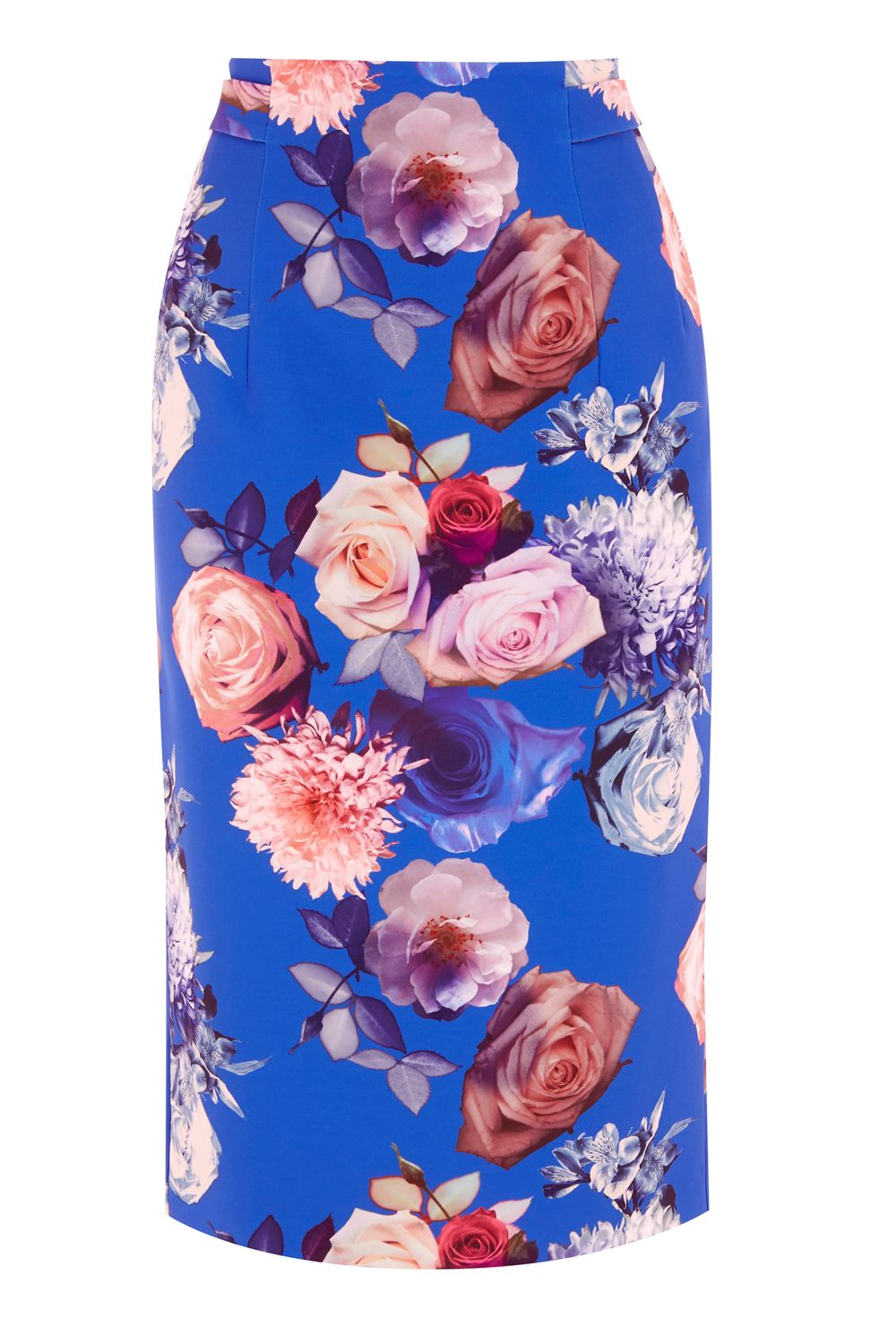 Oasis ROSE PRINT PENCIL SKIRT, Multi-Coloured