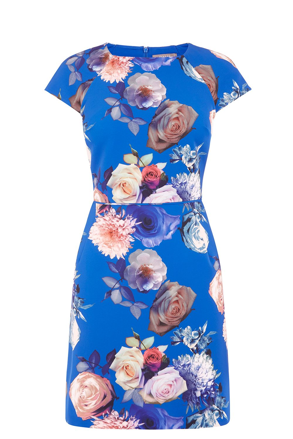Oasis ROSE SHORT SLEEVE SHIFT, Multi-Coloured
