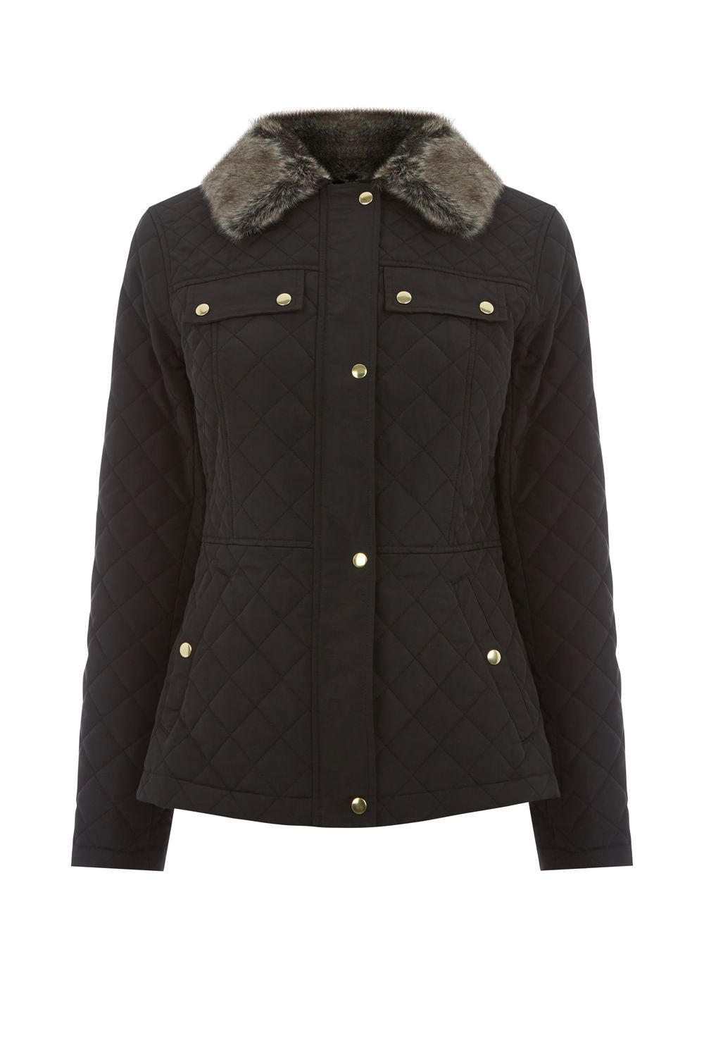 Oasis Quilted Jacket, Black