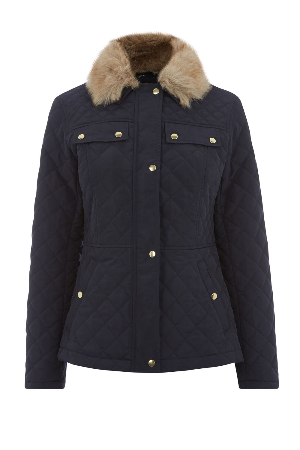 Oasis Quilted Jacket, Blue