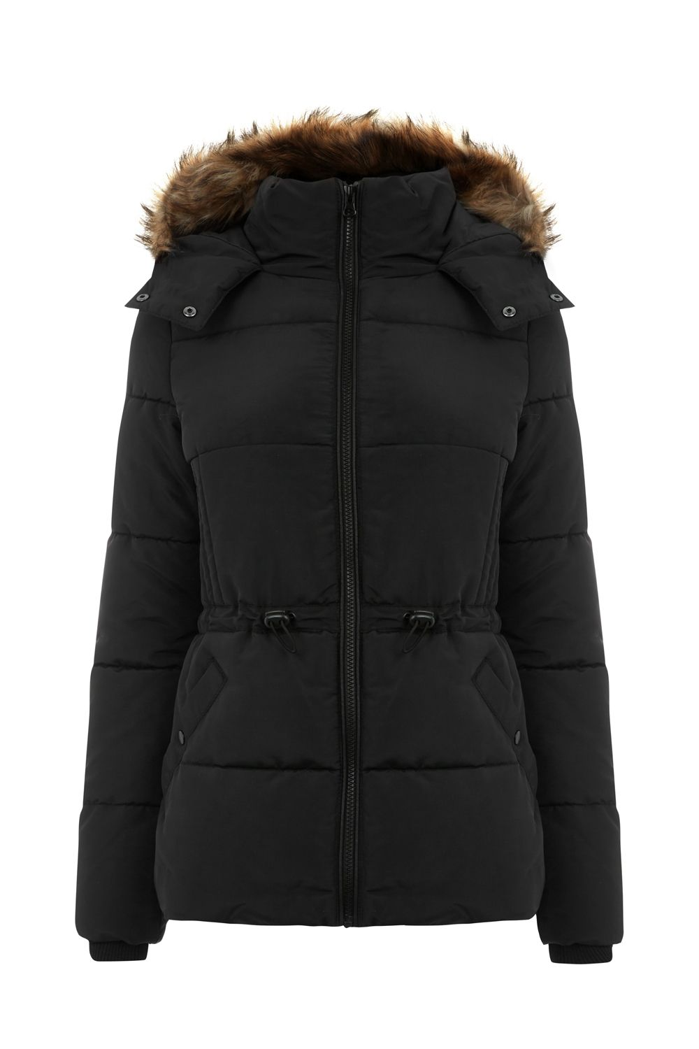 Oasis Sporty Padded Jacket, Black