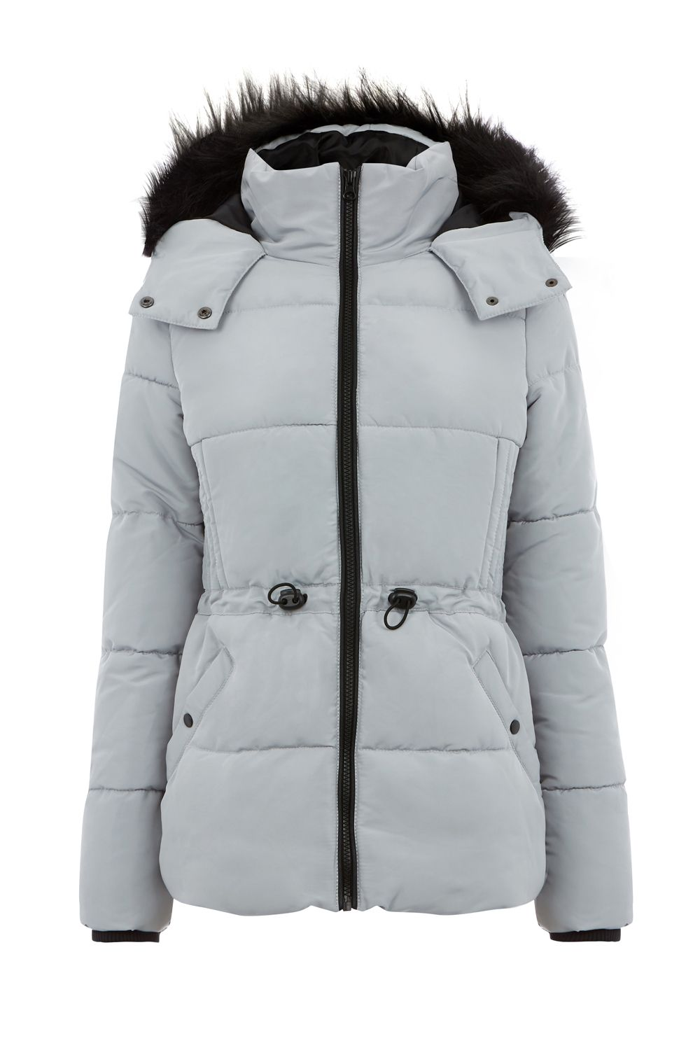 Oasis Sporty Padded Jacket, Silver