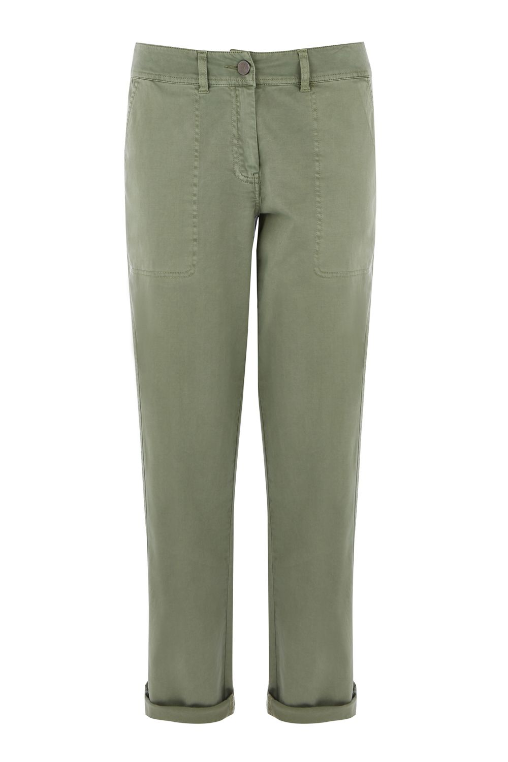 Oasis COTTON CARGO TROUSER, Khaki