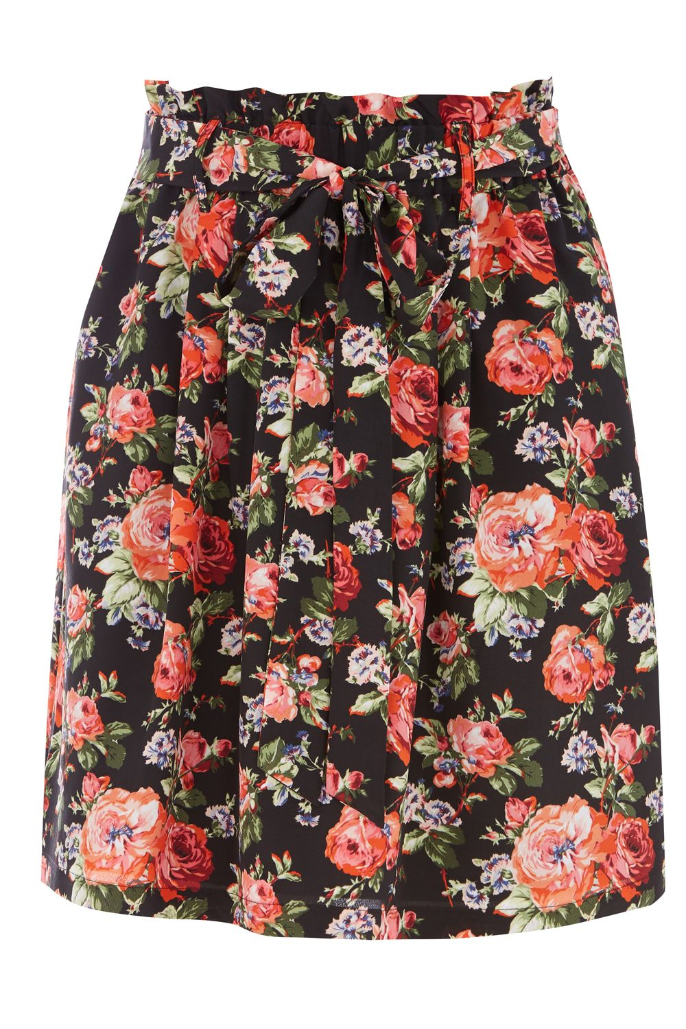Oasis PAPERBAG ROSE SKIRT, Multi-Coloured