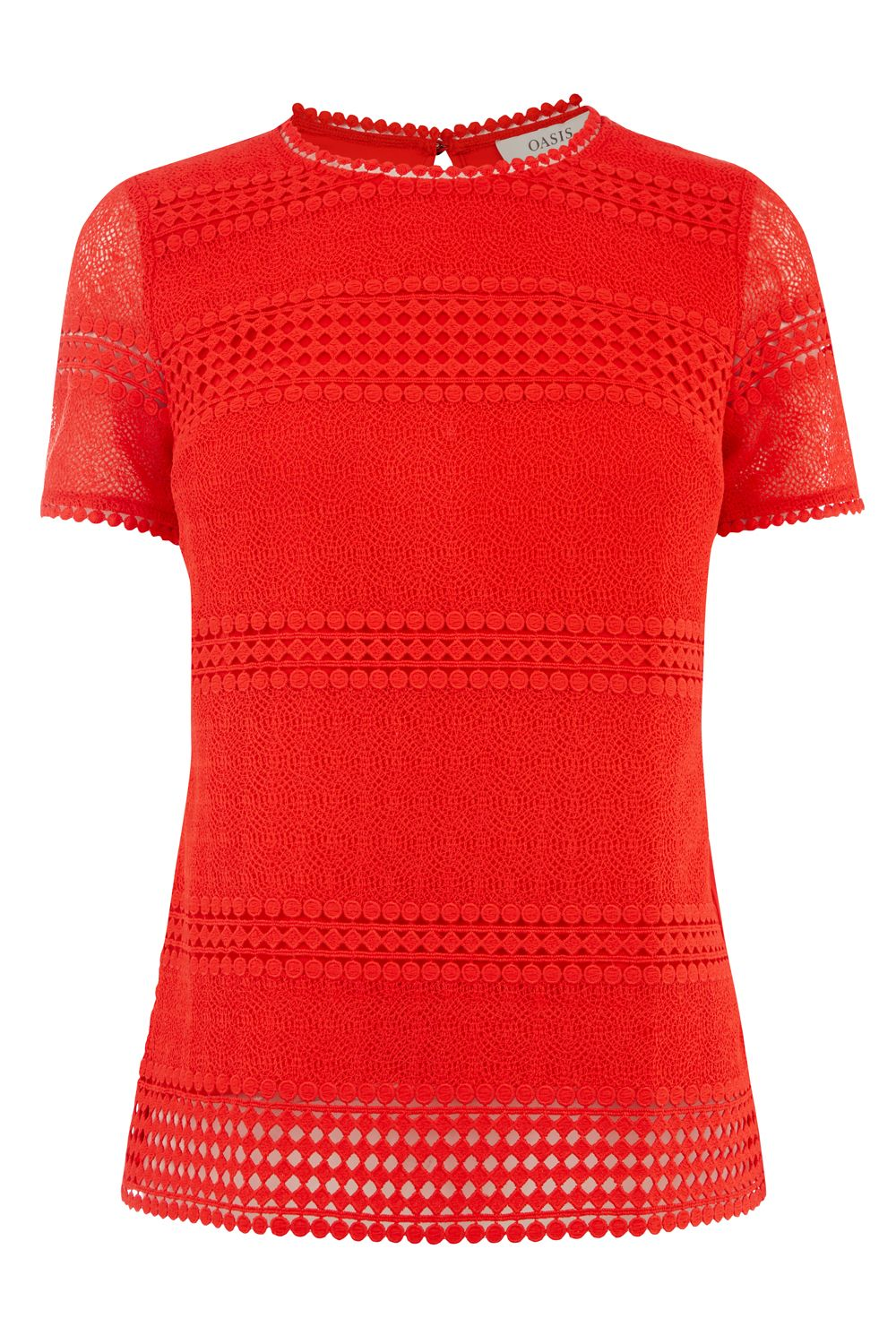 Oasis MARAIS LACE TEE, Red