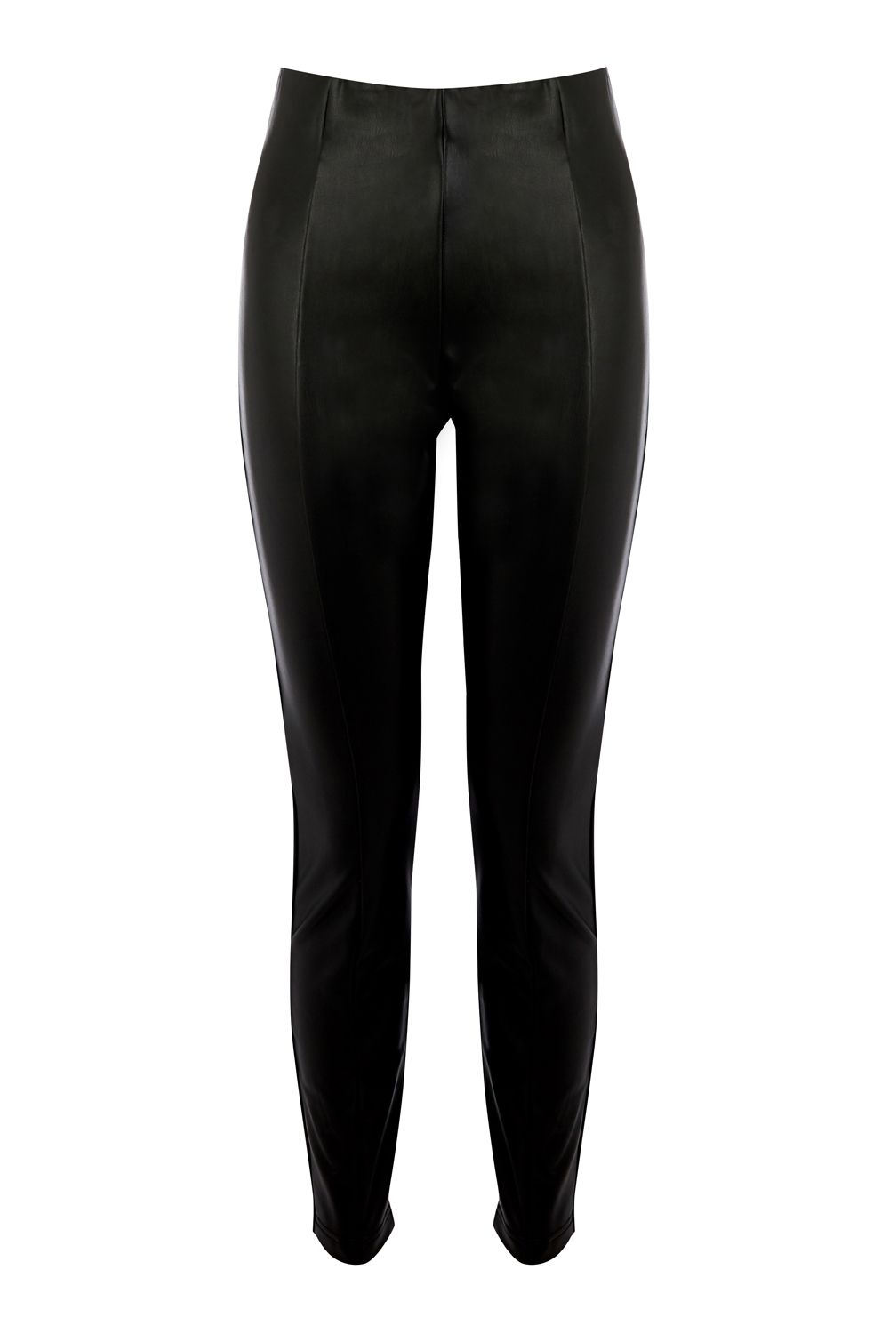 Oasis Faux Leather Stretch Legging, Black