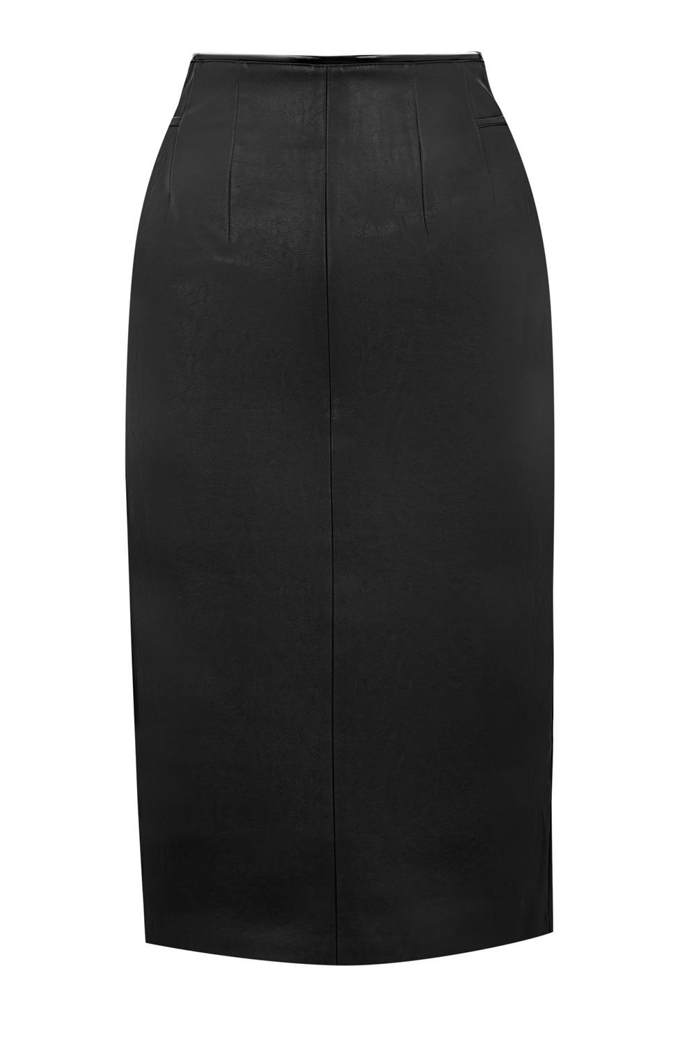 Oasis Faux Leather Pencil Skirt, Black