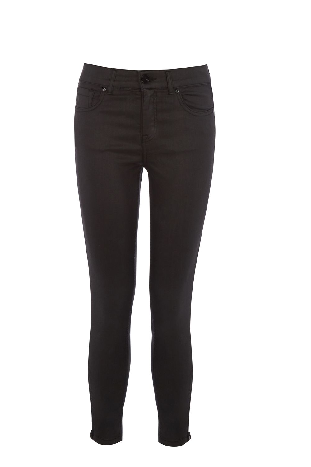 Oasis Black Coated Isabella Skinny Jeans, Black