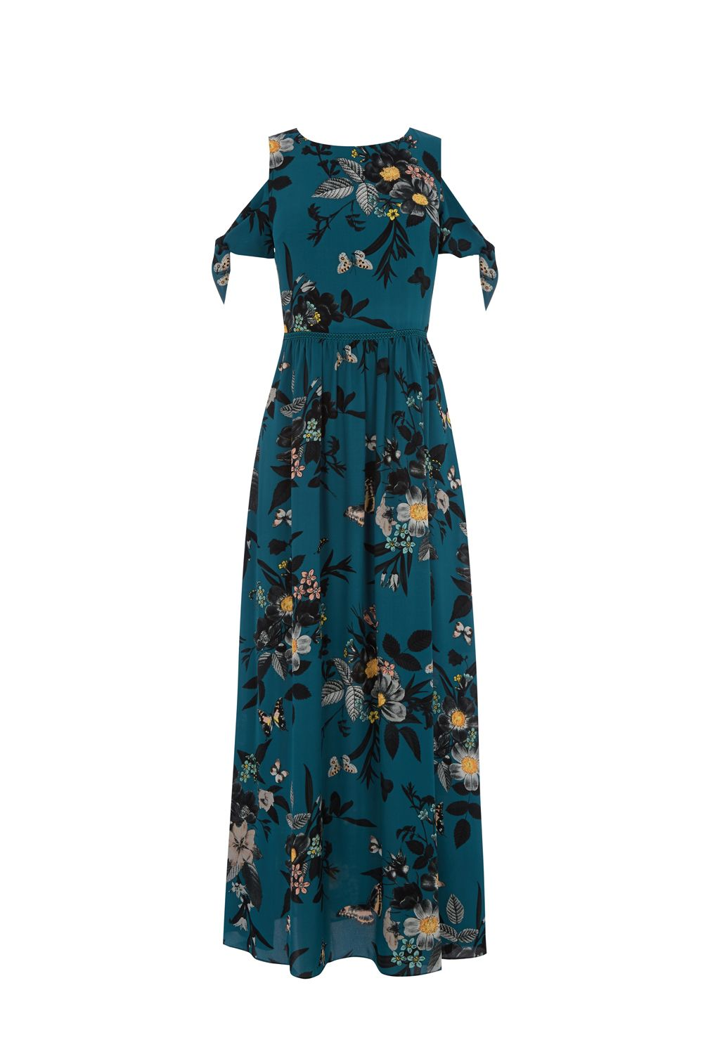 Oasis Shipwrecked Print Maxi Dress, Multi-Coloured
