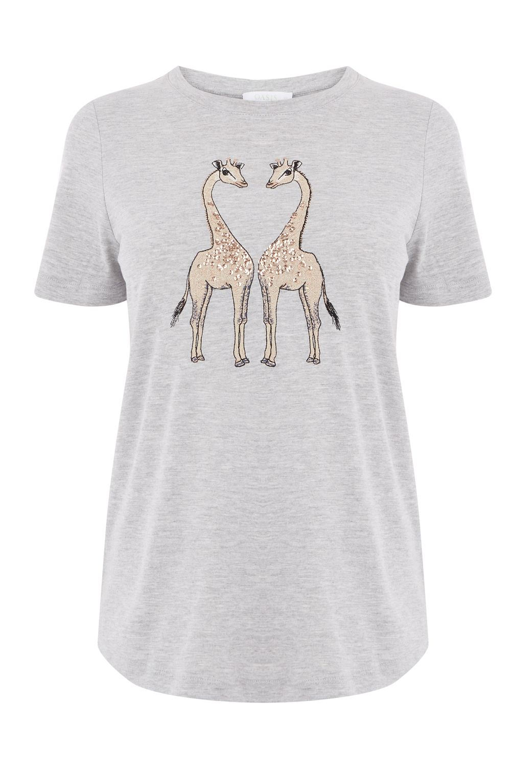 Oasis LONDON ZSL GIRAFFE TEE, Multi-Coloured