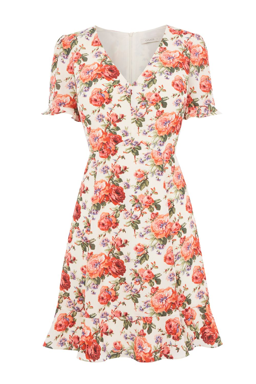 Oasis Utility Rose Tee Dress, Multi-Coloured