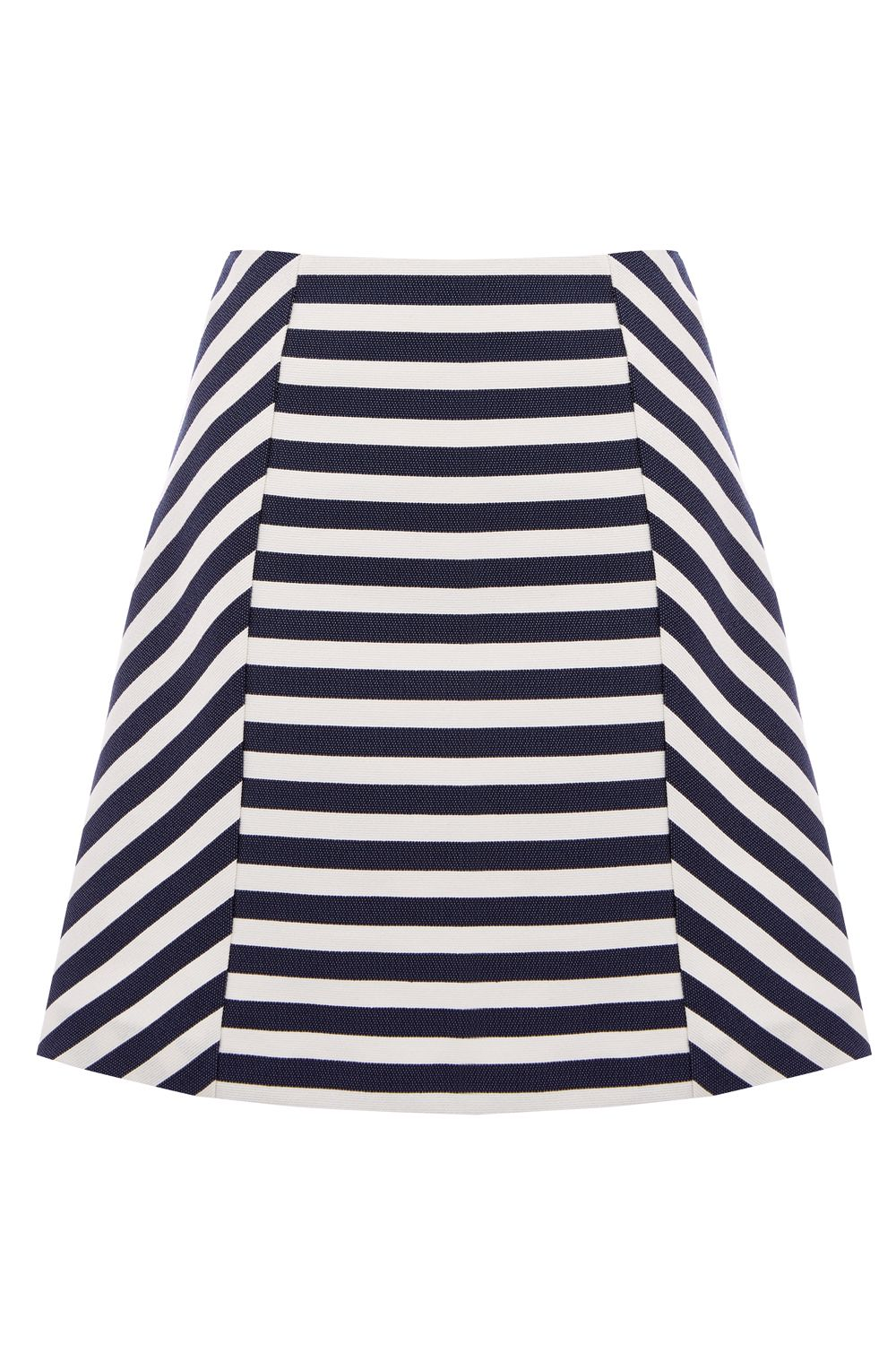 Oasis STRIPE A-LINE SKIRT, Multi-Coloured