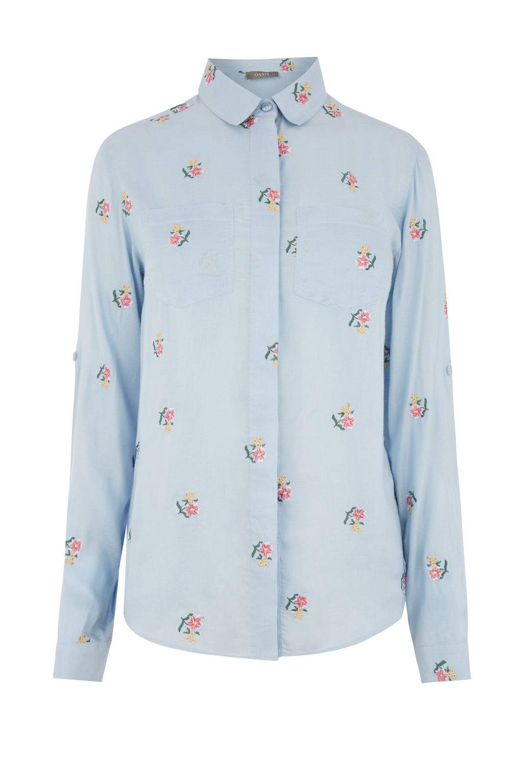 Oasis DITSY EMBROIDERED SHIRT, Multi-Coloured