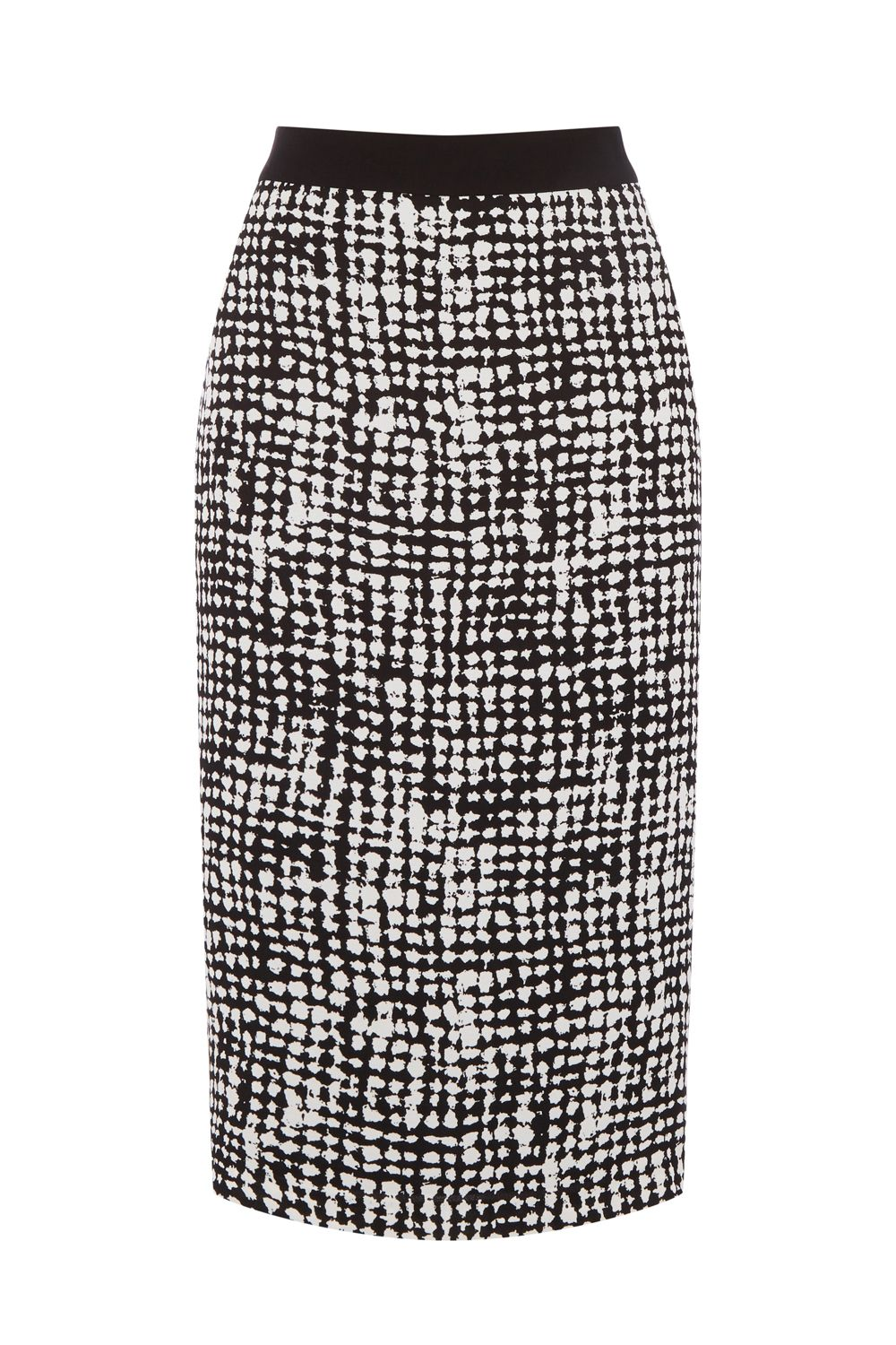 Oasis TEXTURE PRINT PENCIL SKIRT, Multi-Coloured
