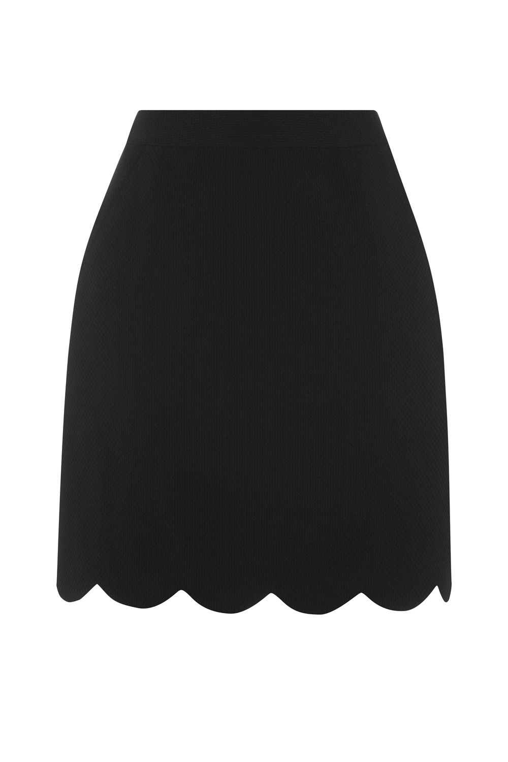 Oasis SCALLOP POCKET SKIRT, Black