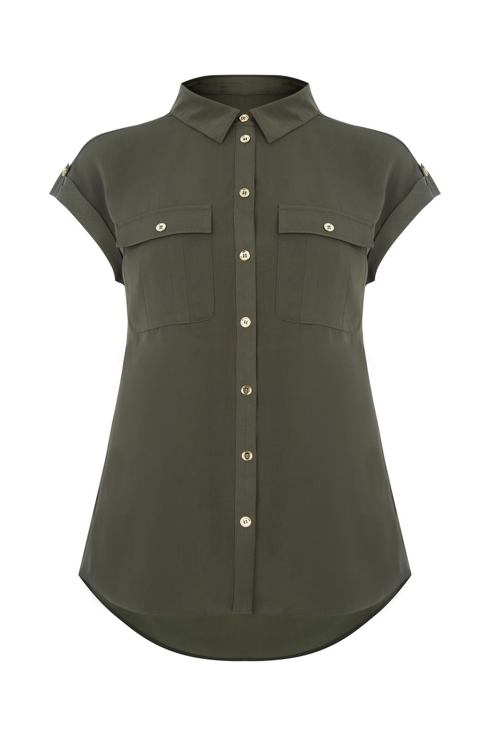 Oasis Soft Safari Shirt, Green