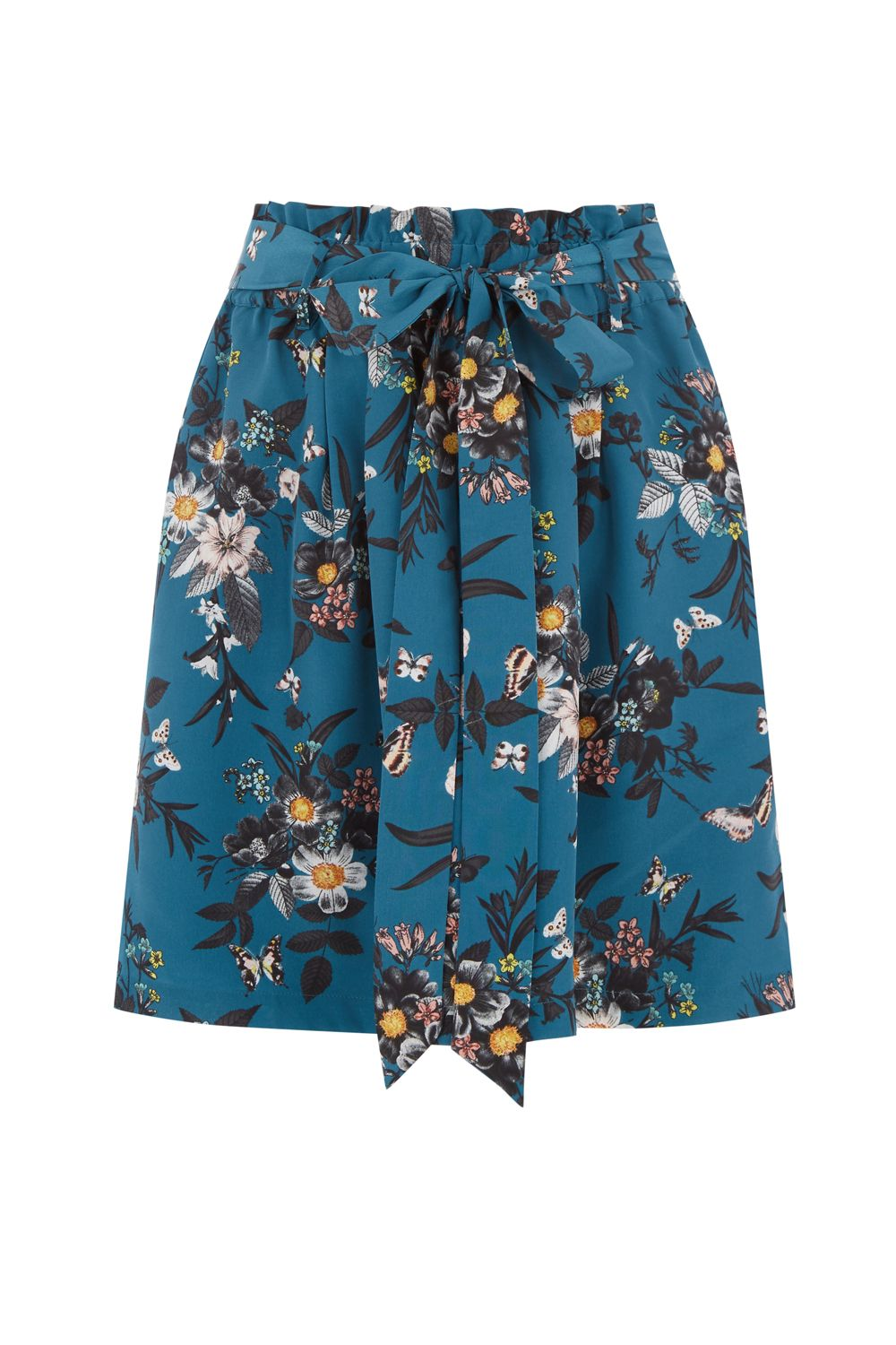 Oasis SHIPWRECKED PAPERBAG SKIRT, Multi-Coloured