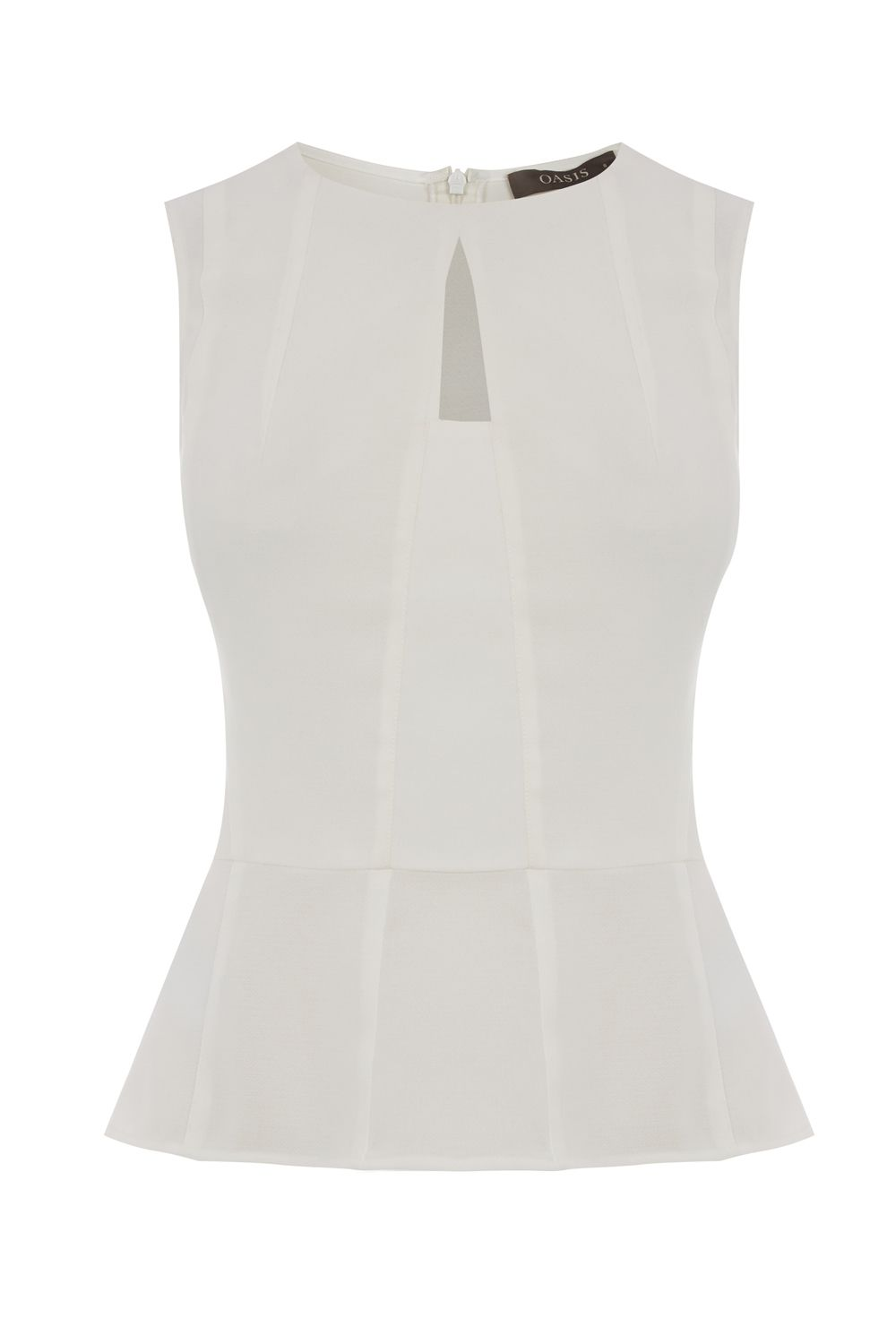 Oasis Peplum Top, Off White