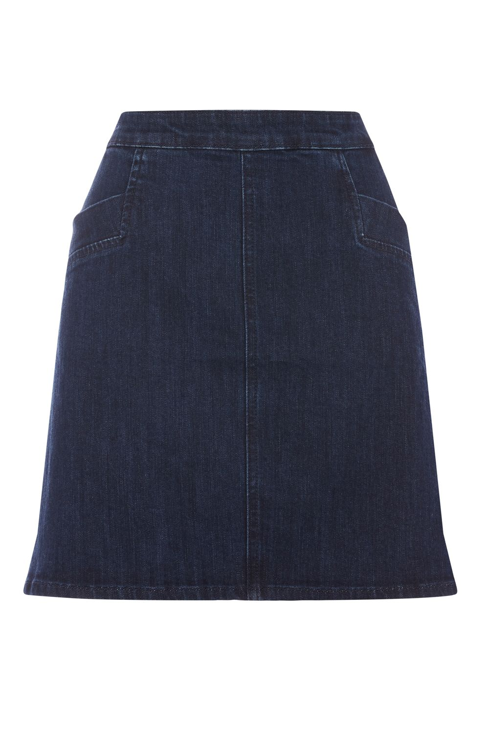 Oasis Denim Pocket Mini Skirt, Denim Dark Wash
