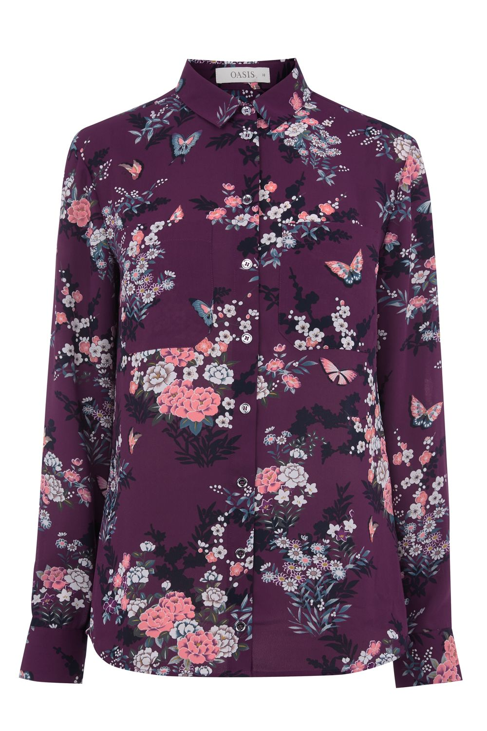Oasis Kimono Shirt, Multi-Coloured