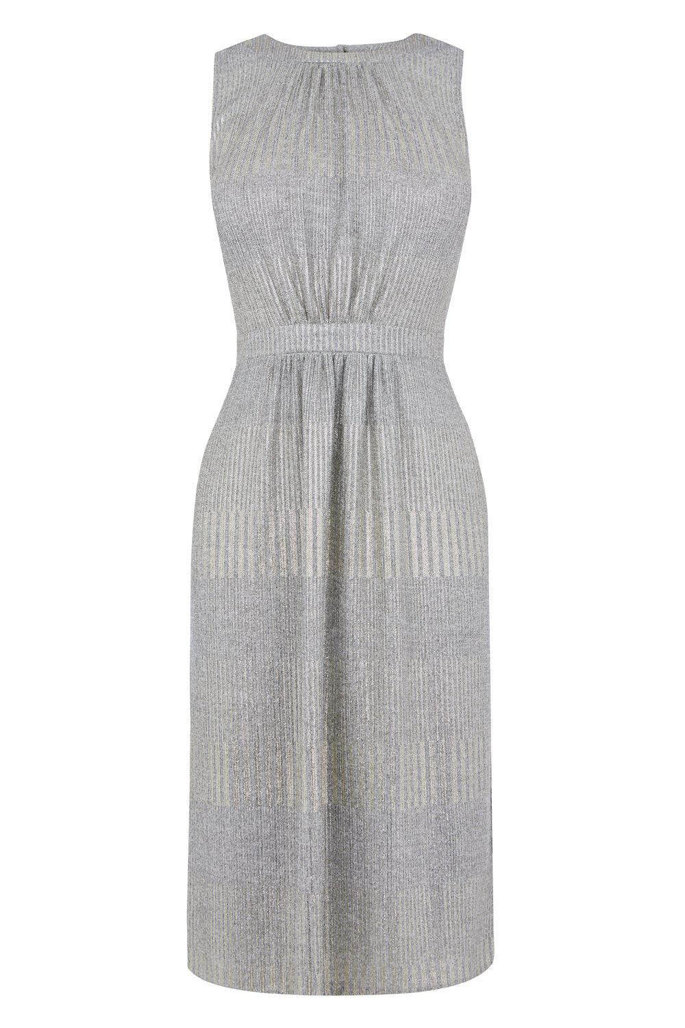 Oasis Geo Grecian Dress, Pewter
