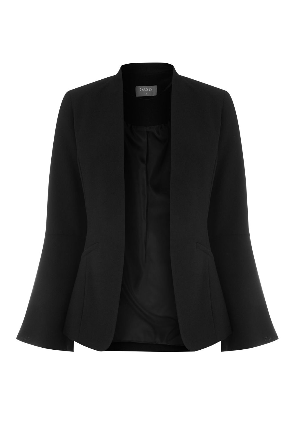 Oasis Bell Sleeve Jacket, Black