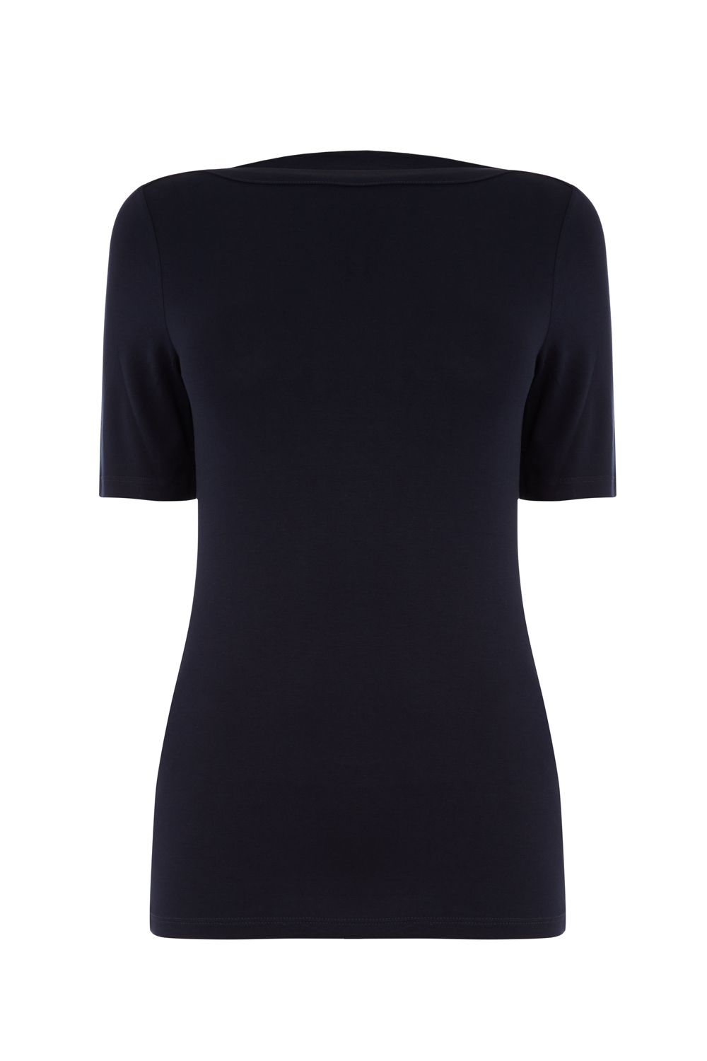 Oasis Short Sleeve Boatneck Top, Blue