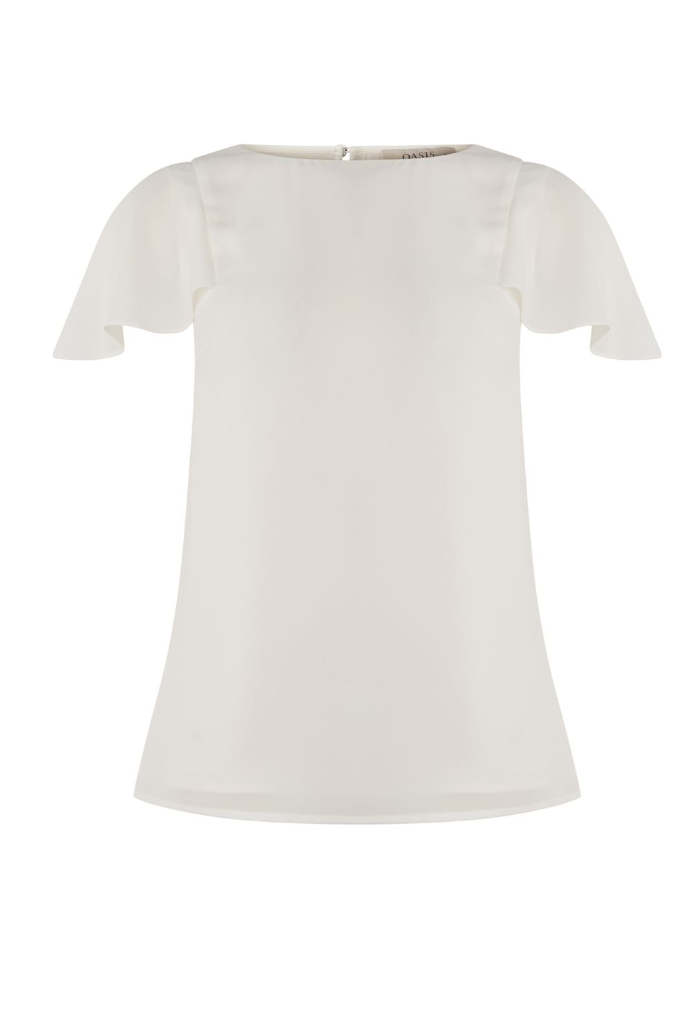 Oasis Cape sleeve top, Off White