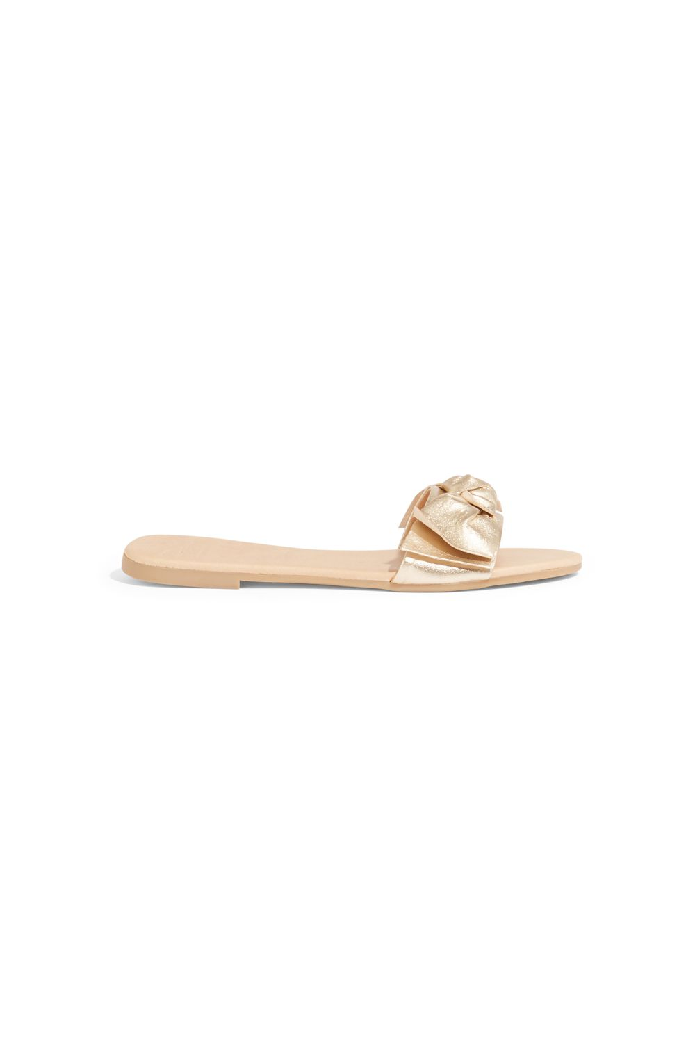 Oasis Bow sliders, Gold