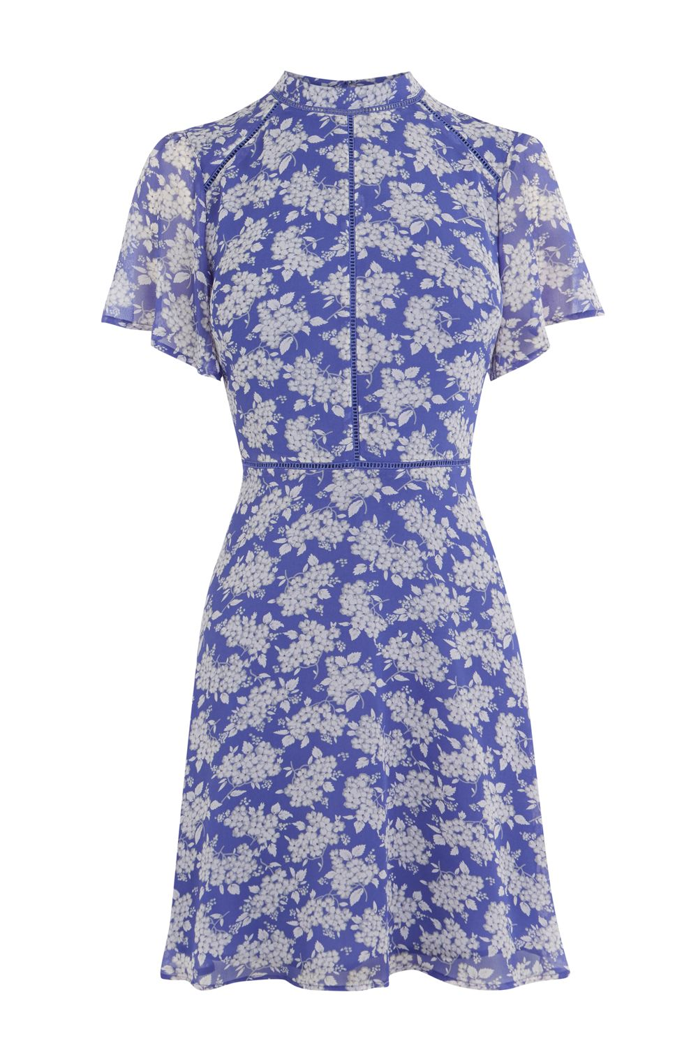 Oasis Provence ditsy dress, Blue Multi