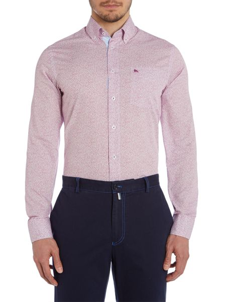 Magee Floral Tailored Fit Long Sleeve Button Down Shirt