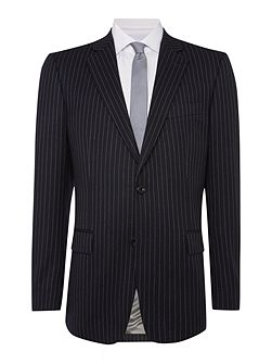 Stripe Notch Collar Classic Fit Suit