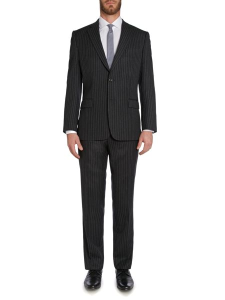 Magee Stripe Notch Collar Classic Fit Suit