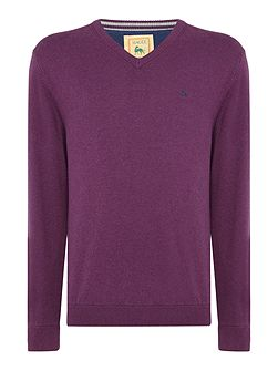 Cotton V Neck Knitwear