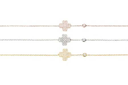 Latelita London Four leaf clover bracelet rosegold