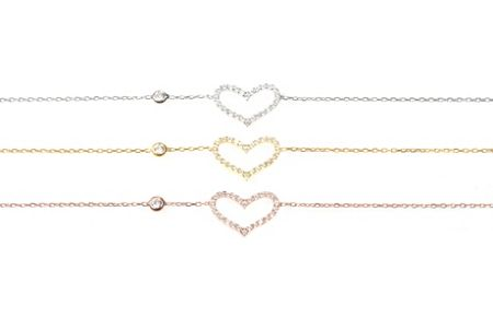 Latelita London Love heart bracelet silver