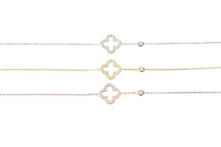 Latelita London Open clover bracelet silver