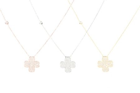 Latelita London Four leaf clover necklace gold