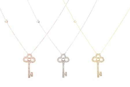 Latelita London Key necklace silver